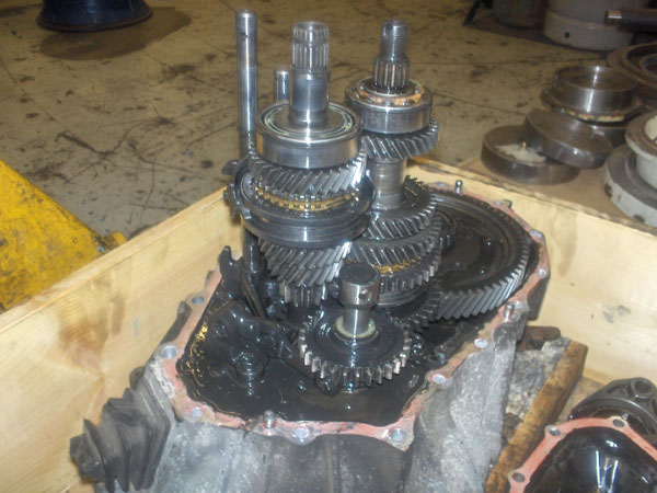 Dismantled C52 gearbox