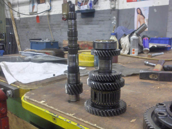 Axles with stack of gears