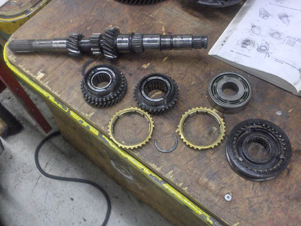 gears pressed from axle