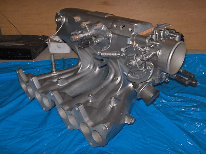 Cleaned, painted and rebuild intake manifold