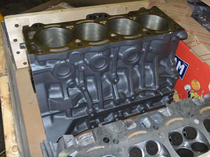 Painted cylinder block