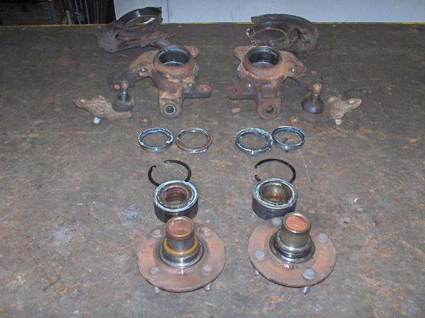 Front hubs and wheel bearings