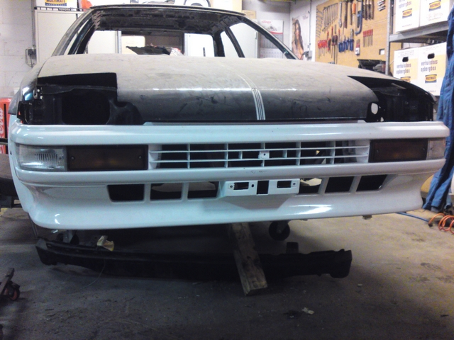 Sprinter Trueno zenki bumper test fitted