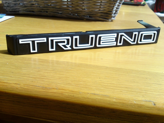 Trueno badge for bumper