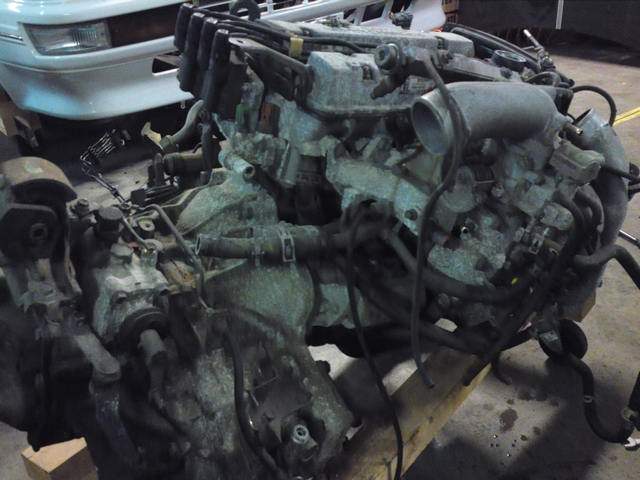 4A-GZE engine with E58 attached