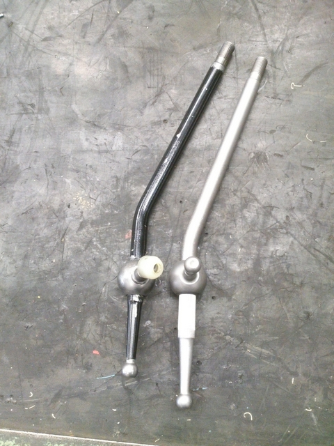Old and new shifter stalks