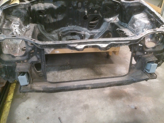 Front brackets on car