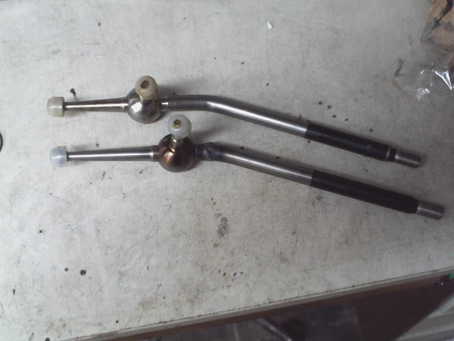 TRD short shifter compared to original shifter stalk