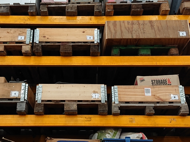 palletstelling genummerde pallets