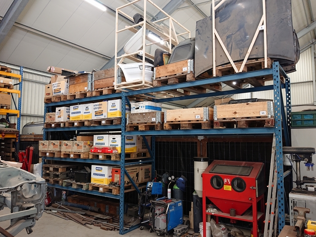 palletstelling 2 genummerde pallets