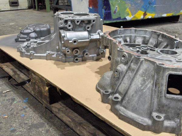 Before and after sandblasting